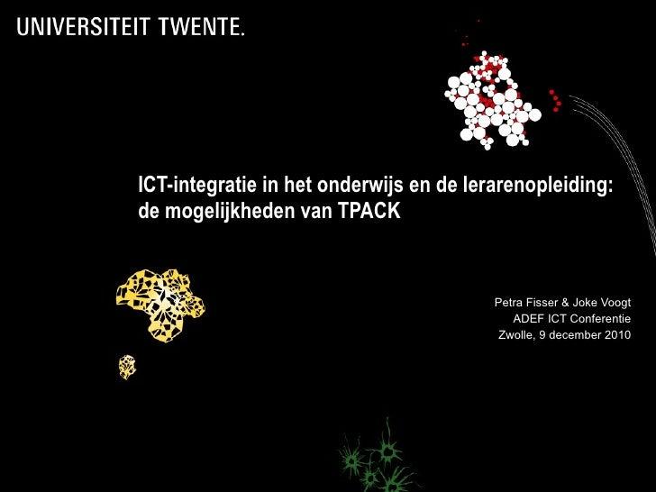 TPACK workshop ADEF ICT Conferentie