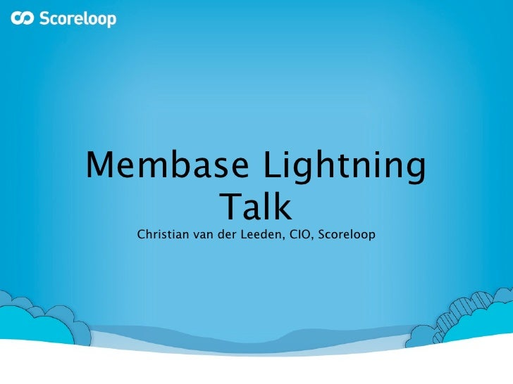 Membase Lightning Talk Munich on Rails