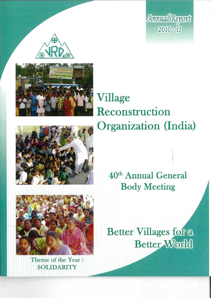 Village                   Reconstruction               •&Ê Organization (India)Theme of the Year :  SOLIDARITY