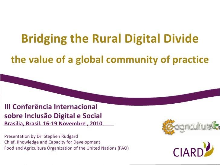 2010-11 CIARD - Bridging Rural Digital Divide (Brasil) - English