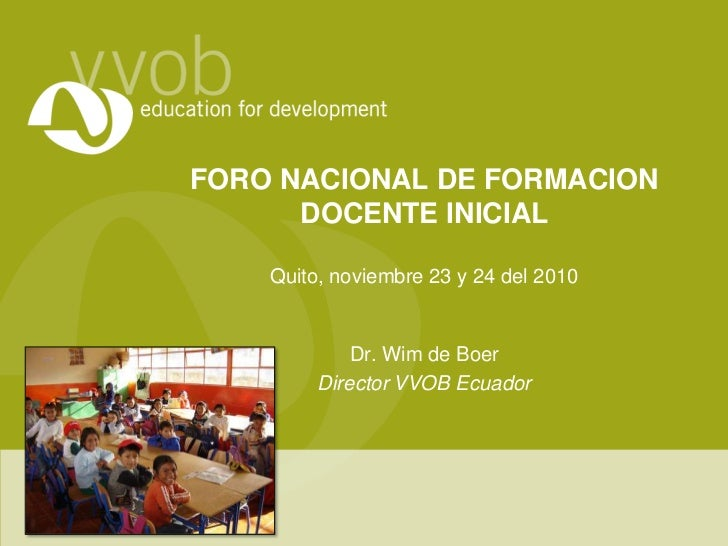 Improving pre-service teacher training (presentation is in Spanish)