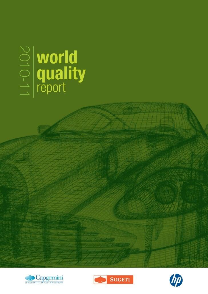 2010-11          world          quality          report