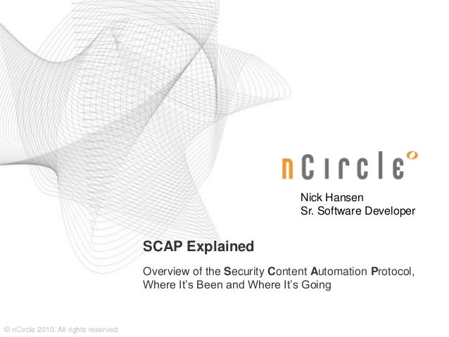 2010-12 SCAP Explained
