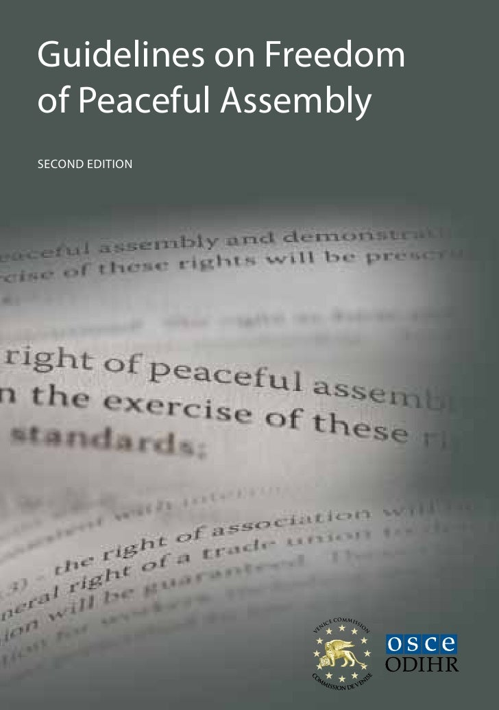 Guidelines on Freedomof Peaceful AssemblySecond edition                         E COMMISSI                       IC       ...