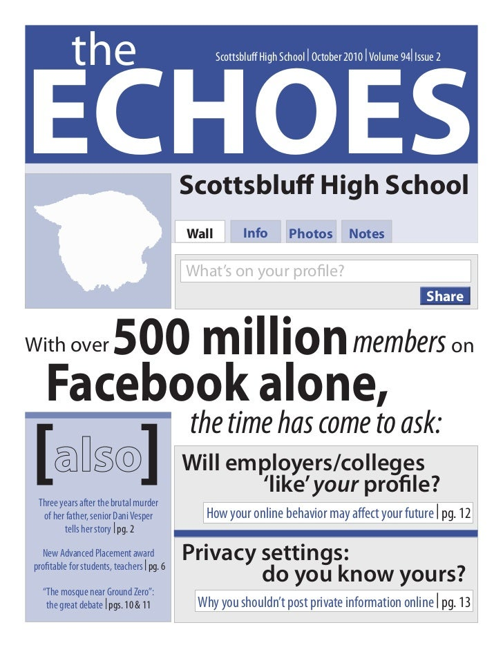 theECHOES                                                   Scottsbluff High School | October 2010 | Volume 94| Issue 2   ...