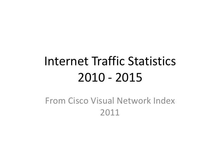 Internet Traffic Statistics 2010 - 2015<br />From Cisco Visual Network Index  2011<br />