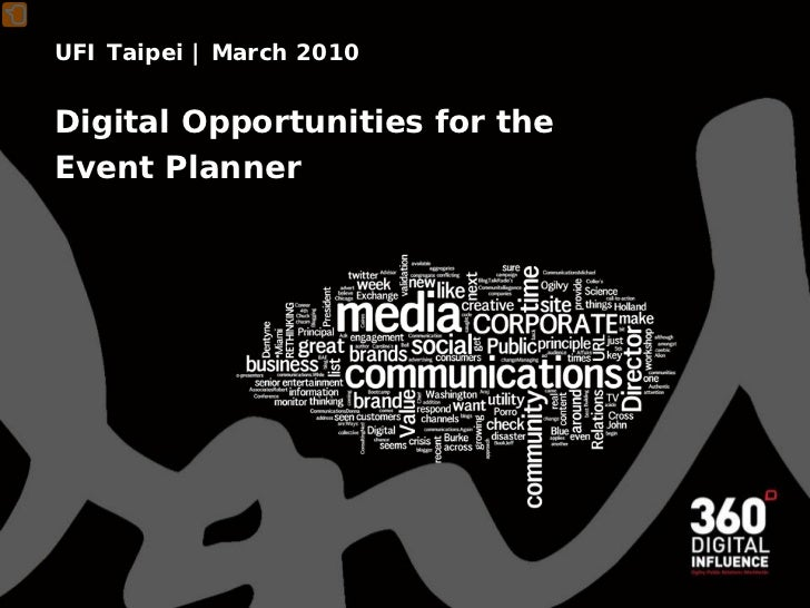 UFI Taipei   March 2010   Digital Opportunities for the Event Planner