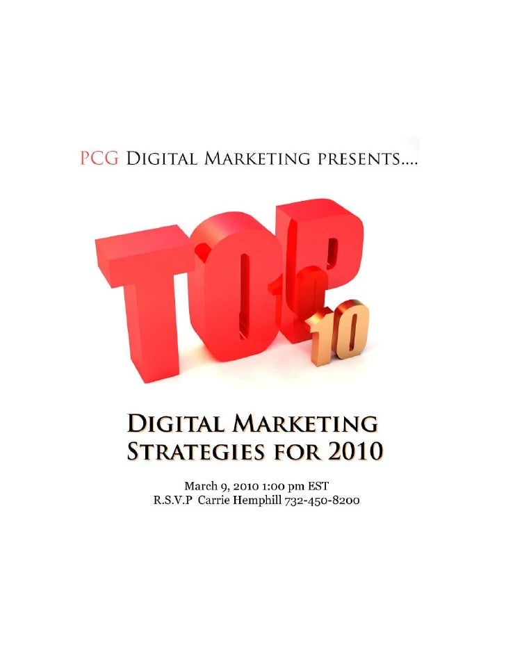 2010 Automotive Digital Marketing Strategies
