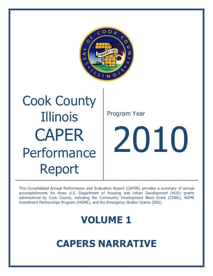 2010 CAPER Report