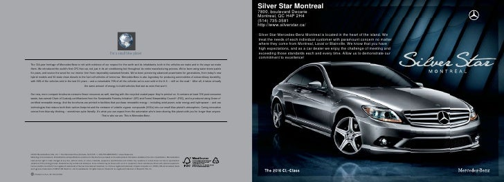 2010 Mercedes Benz CL-Class Montreal Canada