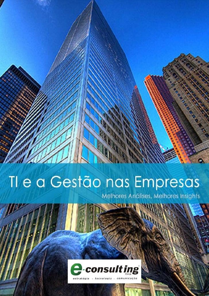 E-Book TI e a Gestão nas Empresas E-Consulting Corp. 2010