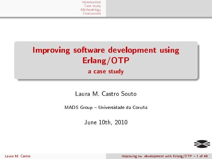 Improving software development using Erlang/OTP