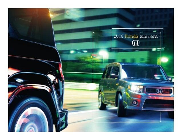 2010 Honda Element Brochure - Boston Honda Dealership, MA