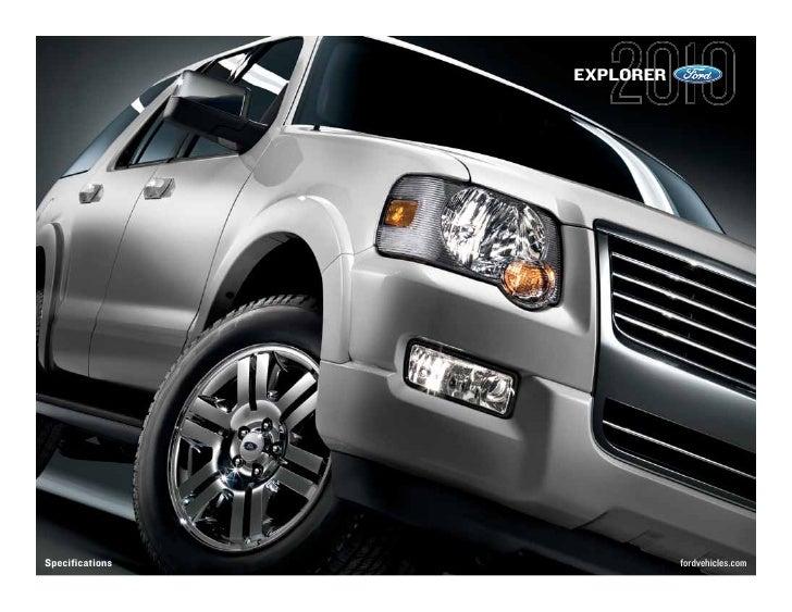 EXPLORER     Specifications              fordvehicles.com
