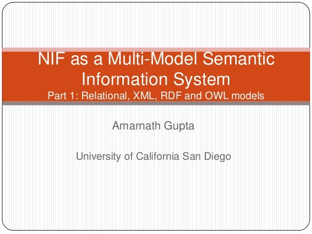 NIF as a Multi-Model Semantic Information System