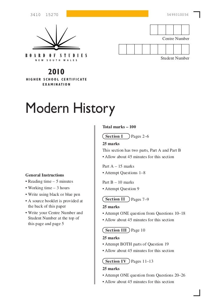 modern history hsc essay structure