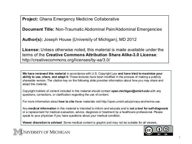 GEMC: Non-Traumatic Abdominal Pain/Abdominal Emergencies: Resident Training