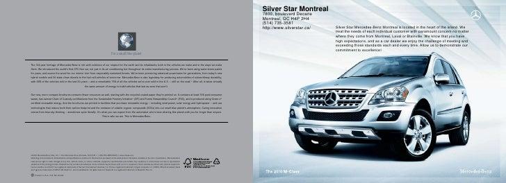 2010 Mercedes Benz M-Class Montreal Canada