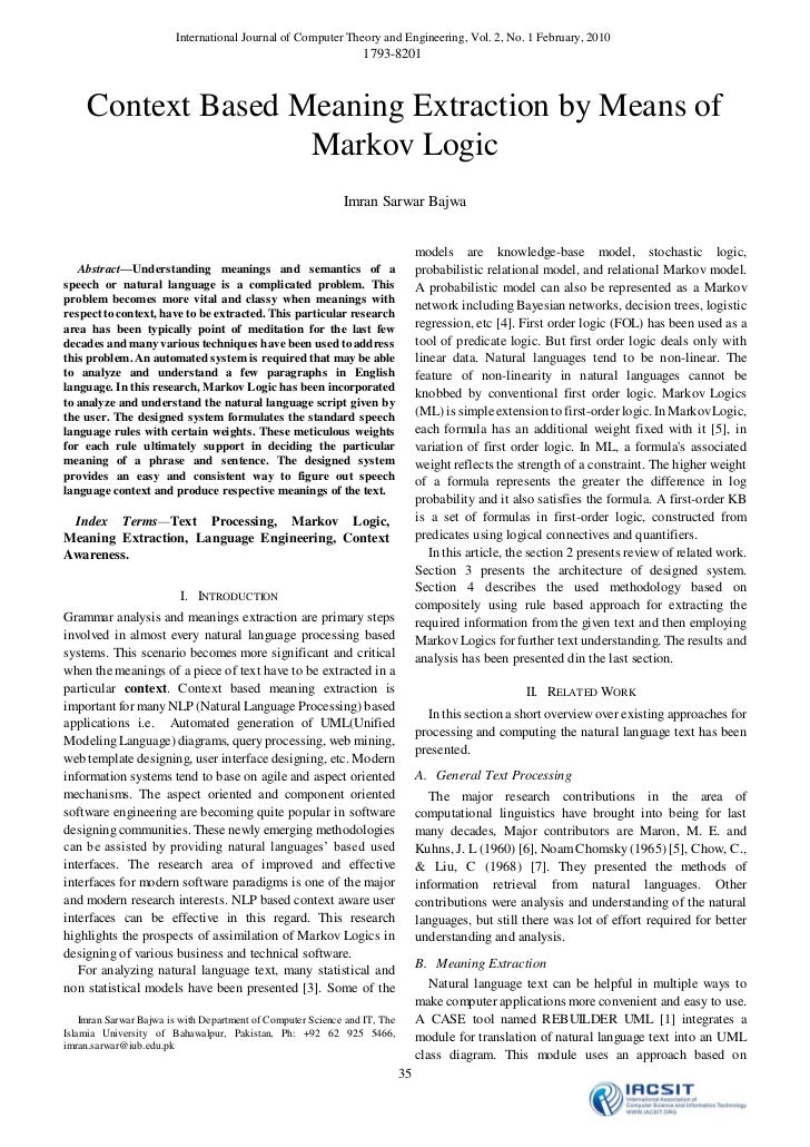 International Journal of Computer Theory and Engineering, Vol. 2, No. 1 February, 2010                                    ...