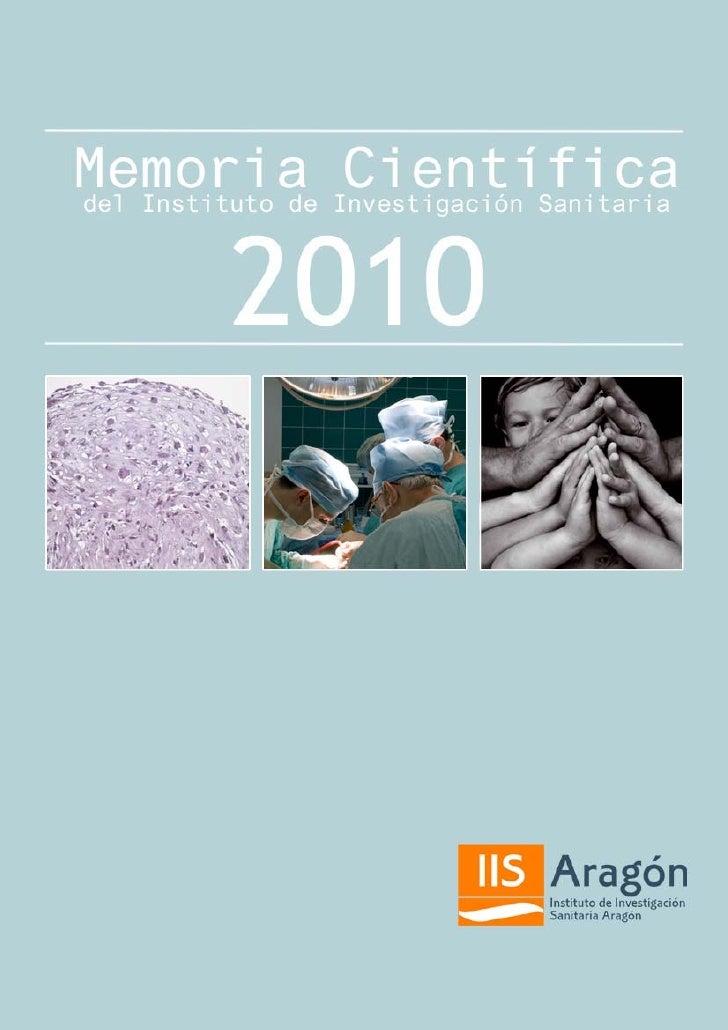 Memoria científica 2010. IIS Aragón