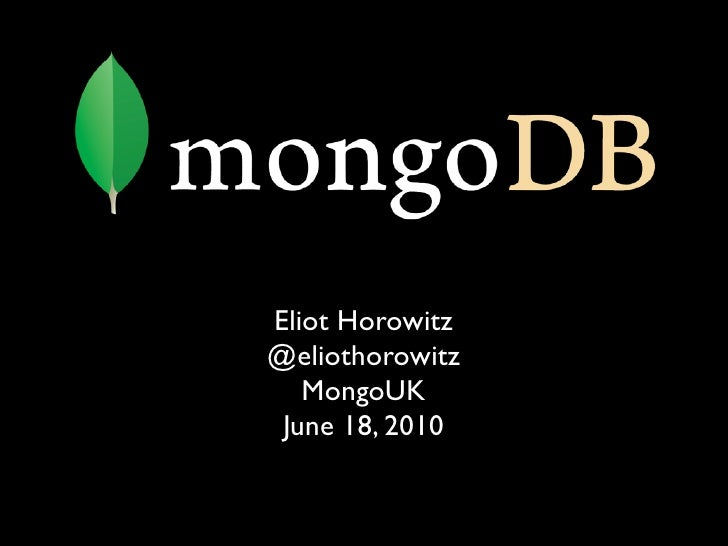 Sharding with MongoDB (Eliot Horowitz)