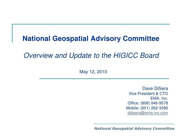 2010 NGAC Overview