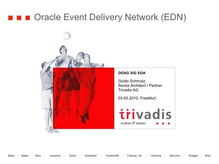 Oracle Event Delivery Network (EDN) DOAG SIG SOA Guido Schmutz, Senior Architect / Partner Trivadis AG 03.05.2010, Frankfurt
