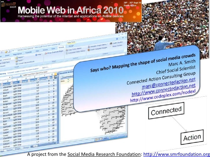 2010   sept - mobile web africa - marc smith - says who - mapping social media crowds
