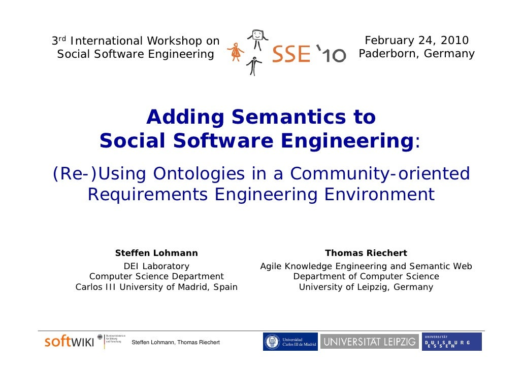 Adding Semantics to Social Software Engineering (by Steffen Lohmann & Thomas Riechert)
