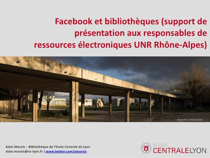 Facebook et bibliothèques : une introduction et des exemples