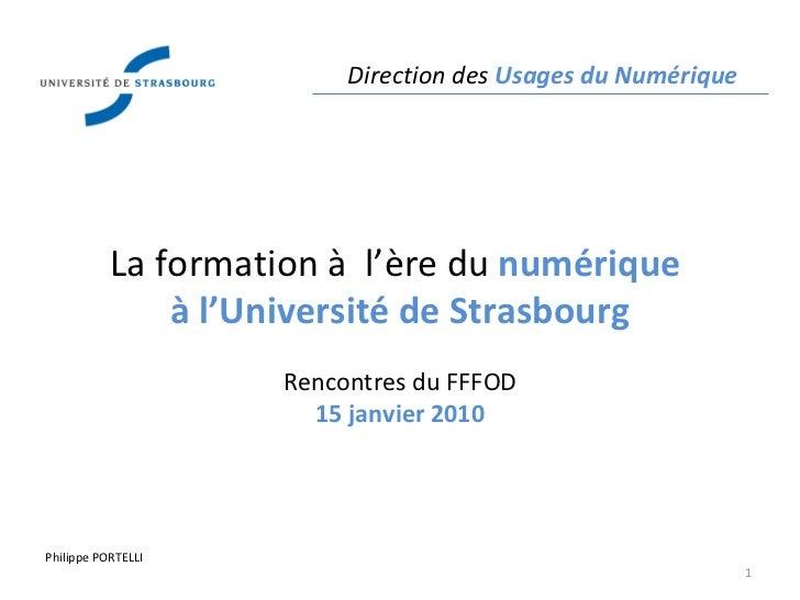 Formation à l'ère numérique à l'Université de Strasbourg