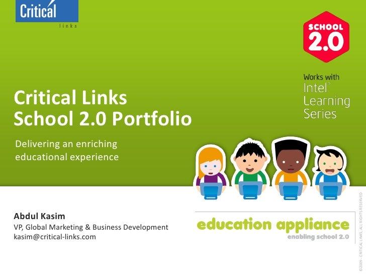 20100119 Critical Links Education Portfilio General Presentation