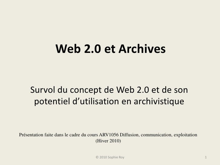 Web 2.0 et Archives