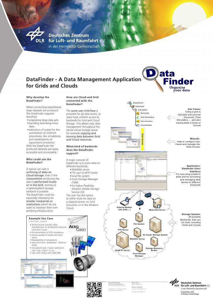 DataFinder - A Data Management Application for Grids and Clouds  Why develop the                           How are Cloud a...