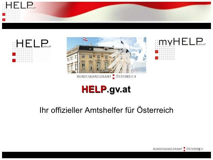 HELP .gv.at Ihr offizieller Amtshelfer für Österreich