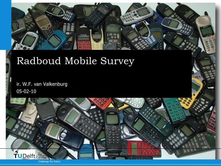 Radboud Mobile Survey Results