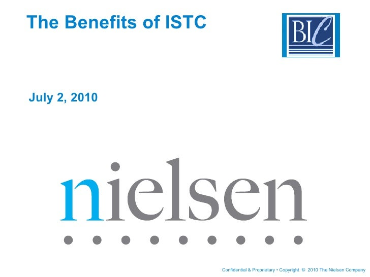 The Benefits of ISTC July 2, 2010