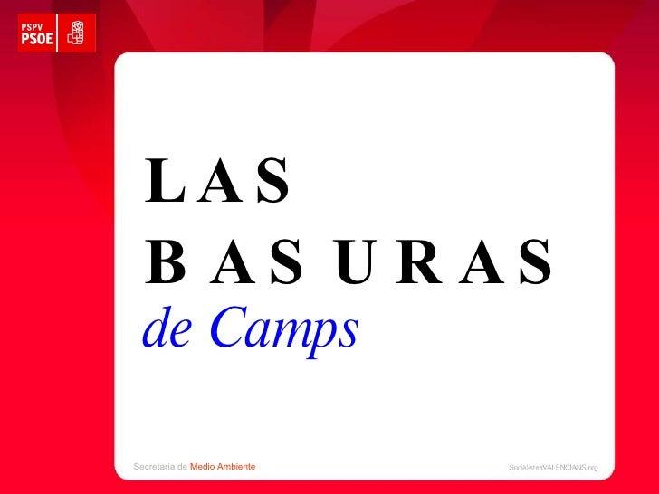LAS BASURAS de Camps Secretaria de  Medio Ambiente