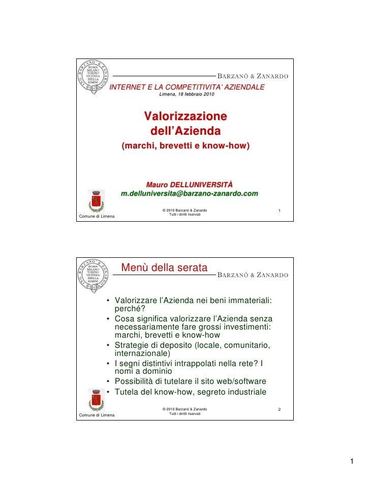 INTERNET E LA COMPETITIVITA' AZIENDALE                            COMPETITIVITA'                              Limena, 18 f...