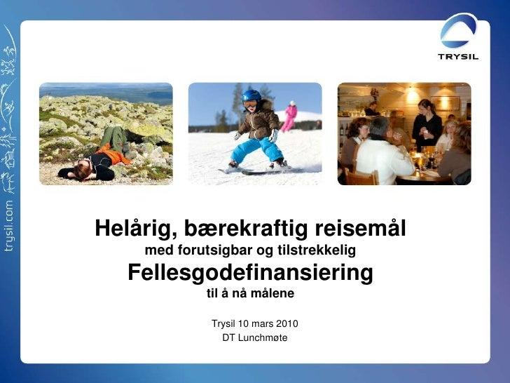 Presentasjon Bærekraft- og Fellesgodeprosjekt