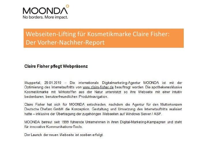 Webseiten-Lifting für Kosmetikmarke Claire Fisher: Der Vorher-Nachher-Report