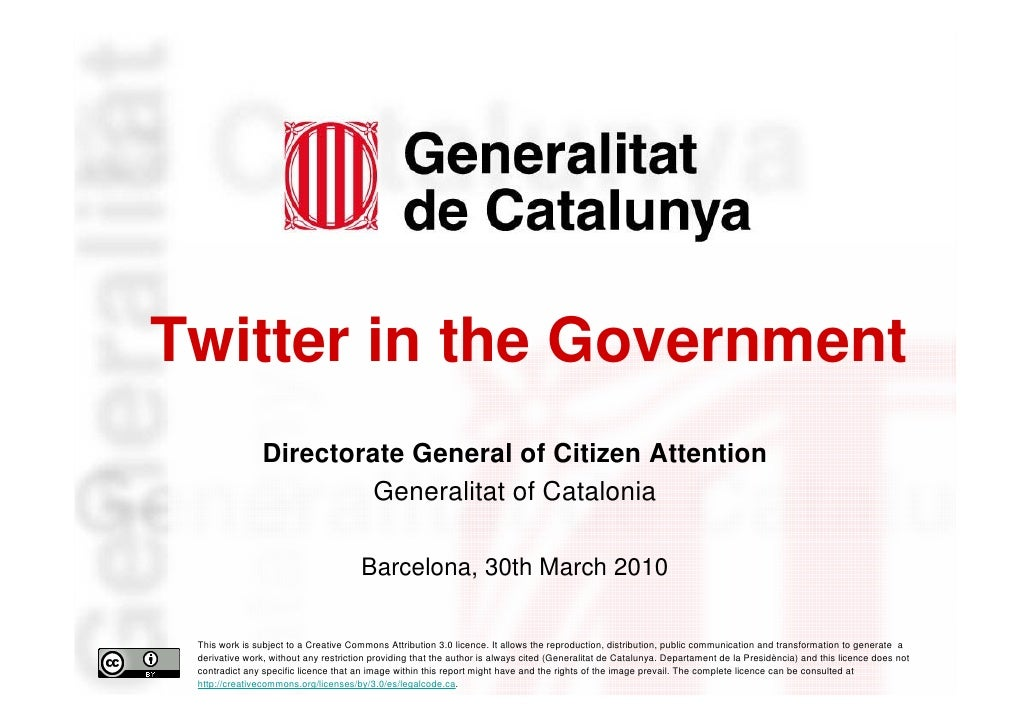 Twitter in the Government                     Directorate General of Citizen Attention                              Genera...