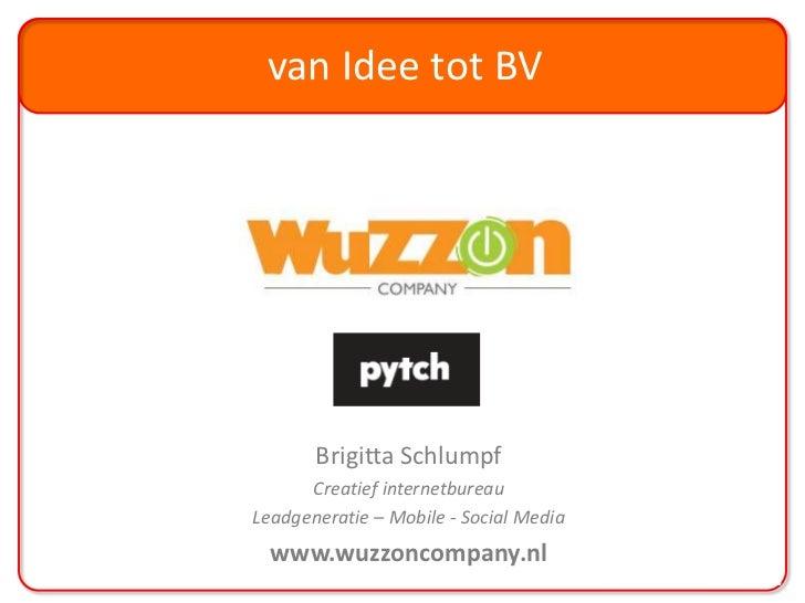 Brigitta Schlumpf - Wuzzon Company - Pytch/LiveWire Seminar: Succesvol groeien als internetstartup