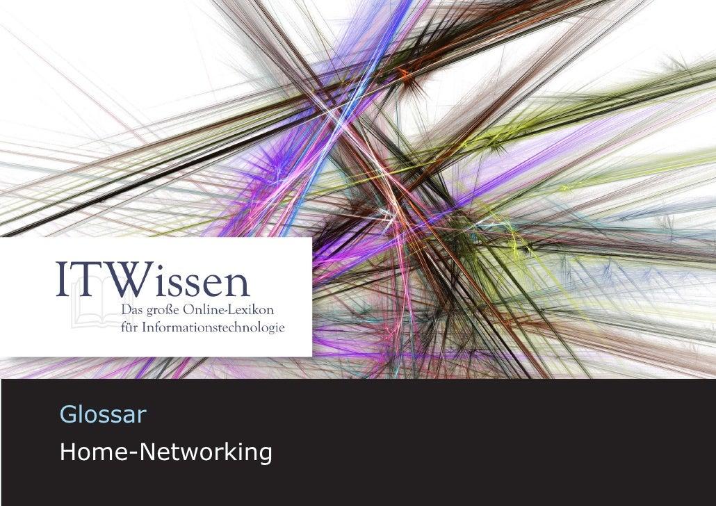 Glossar Home Networks