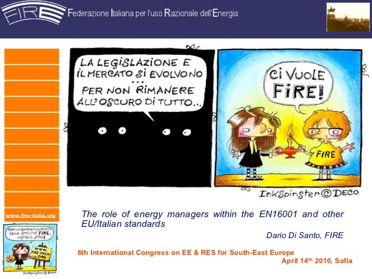 Energy Manager and EN16001