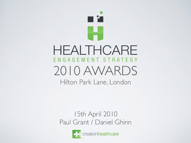 2010 AWARDS Hilton Park Lane, London         15th April 2010 Paul Grant / Daniel Ghinn