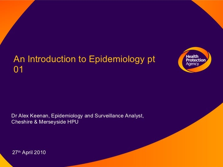 Introduction to Epidemiology and Surveillance