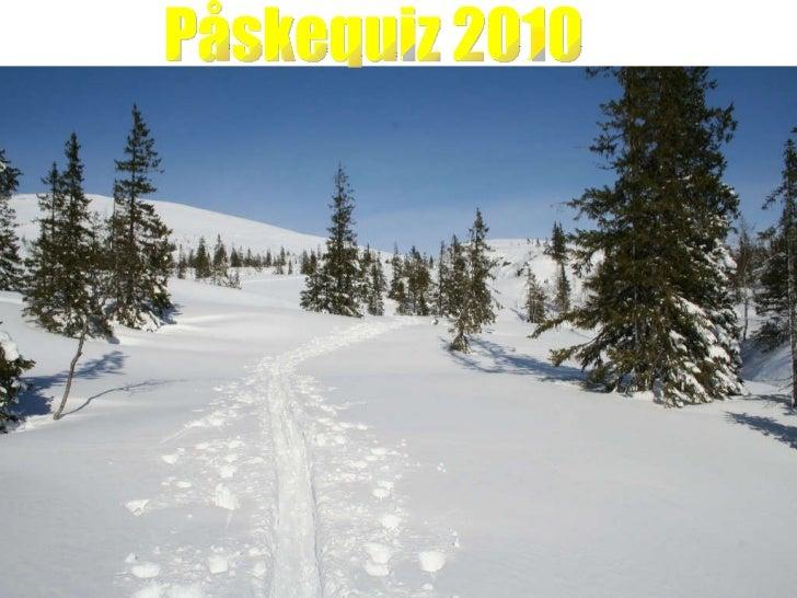 Påskequiz 2010