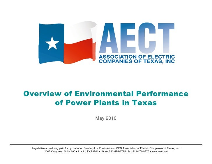 Overview of Environmental Performanceof Power Plants in Texas
