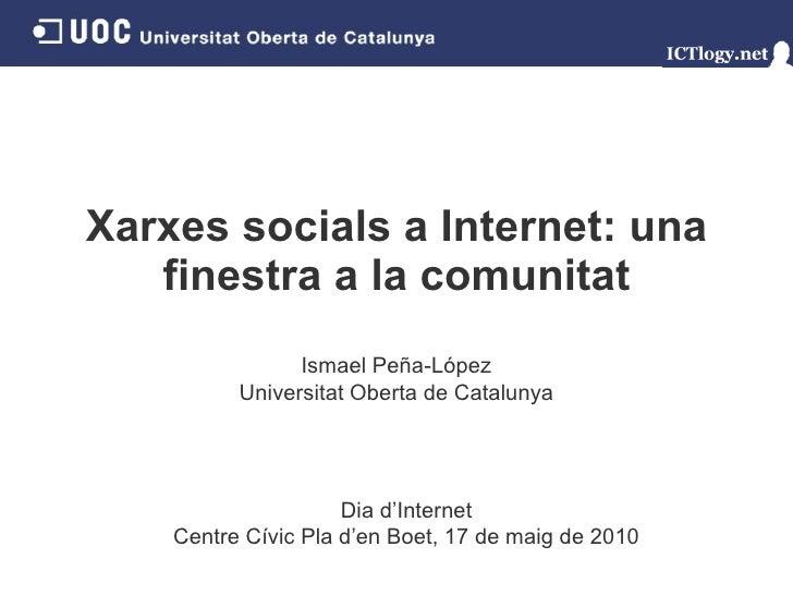 Xarxes socials a Internet: una finestra a la comunitat